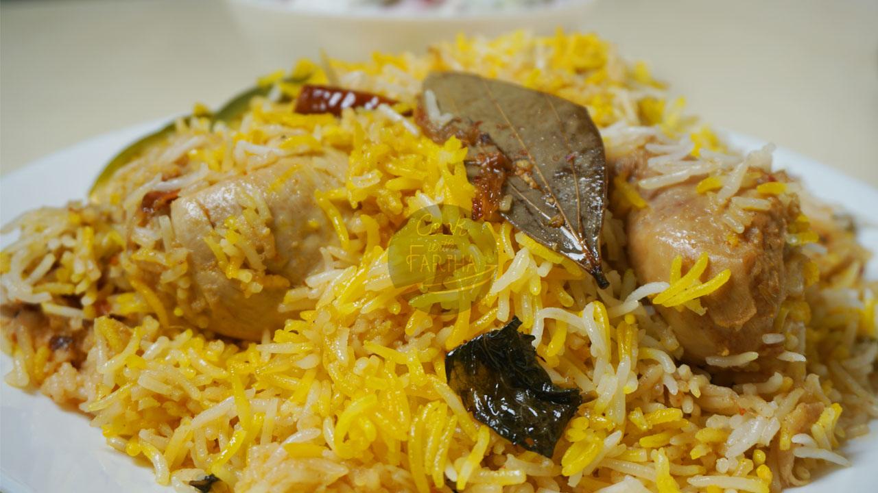 Bombay Chicken Biryani With Homemade Masala