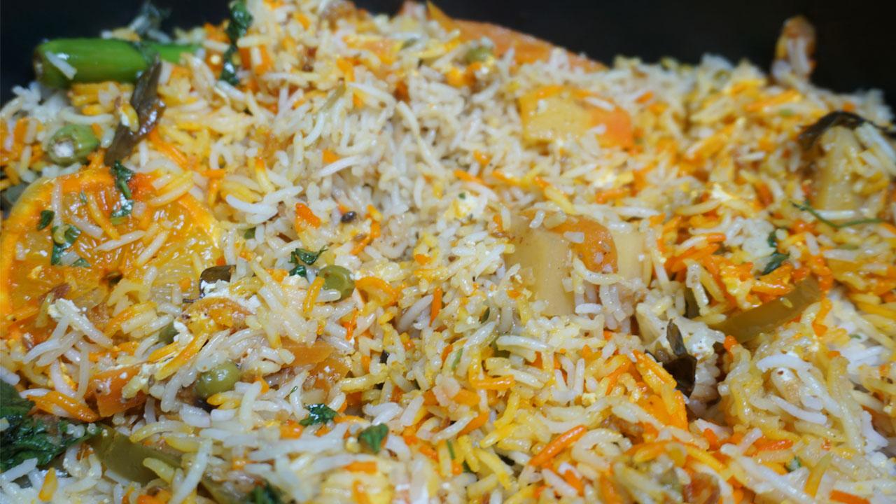 Smoked Vegetable Biryani