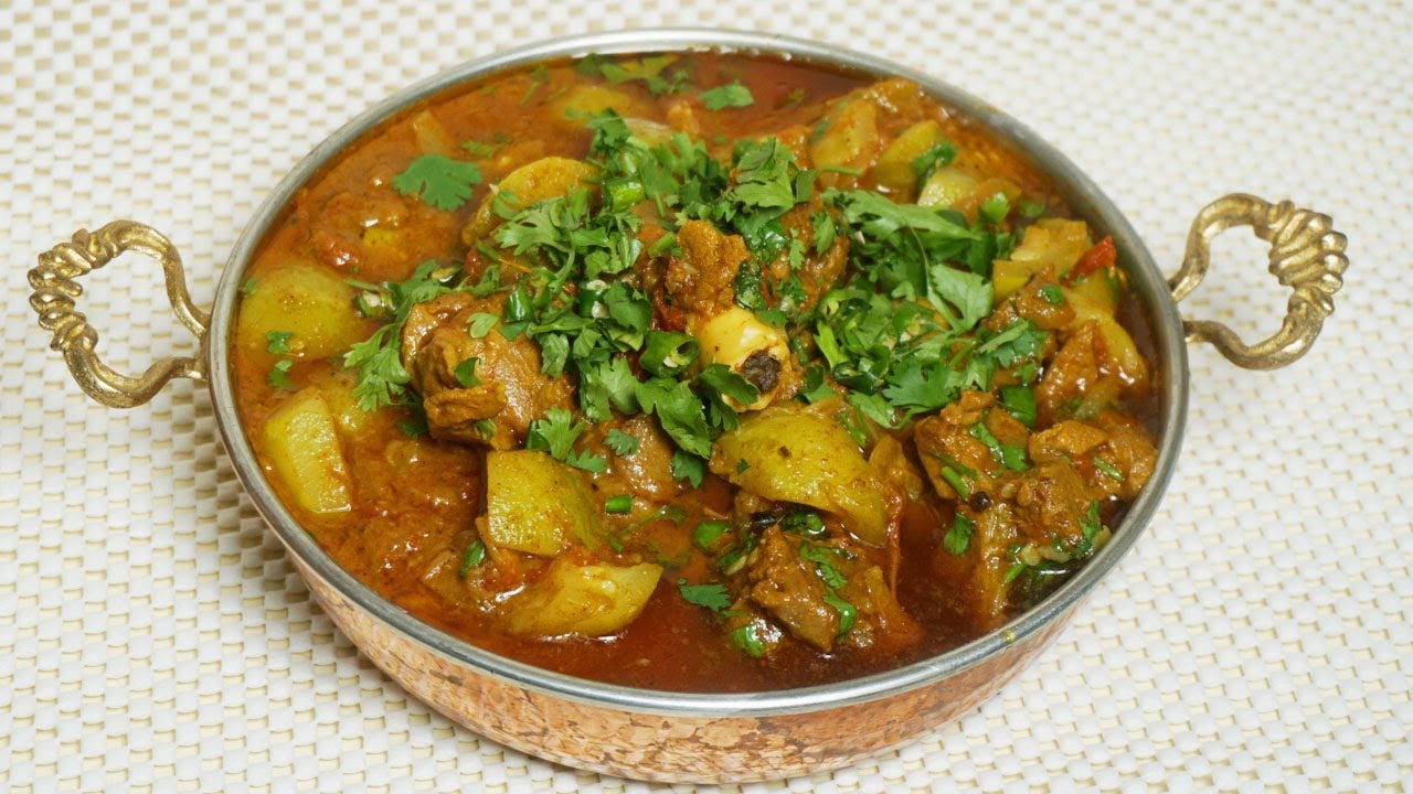 Tinday Ghosht (Mutton With Round Gourd)