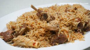 Pressure Cooker Mutton Pulao
