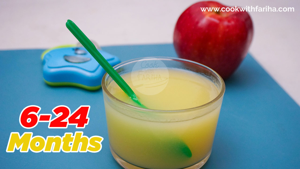 Baby Food Recipe | Apple Puree Recipe For Kids 6-24 Months