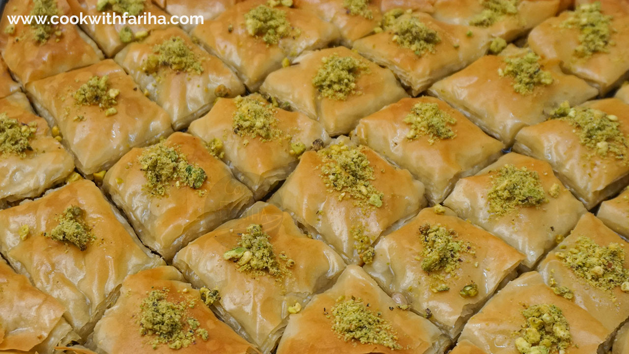 Baklava Recipe | Arabic Turkish Style Baklava Recipe