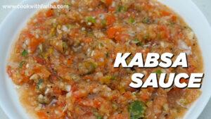 Smokey Mandi Kabsa Sauce Chutney Recipe